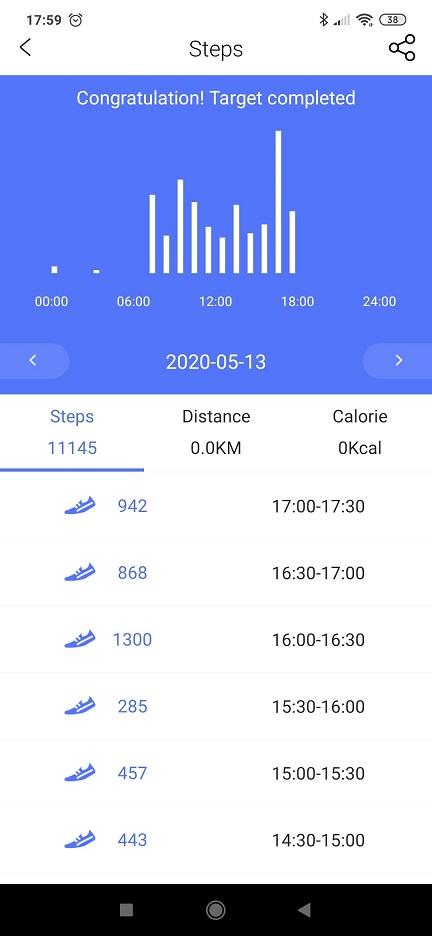 Monitor aktywności zegarek pomiar kroków