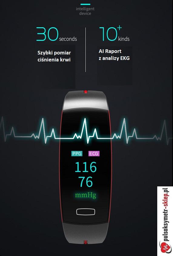 Opaska 30s pomiar ciśnienia krwi EKG