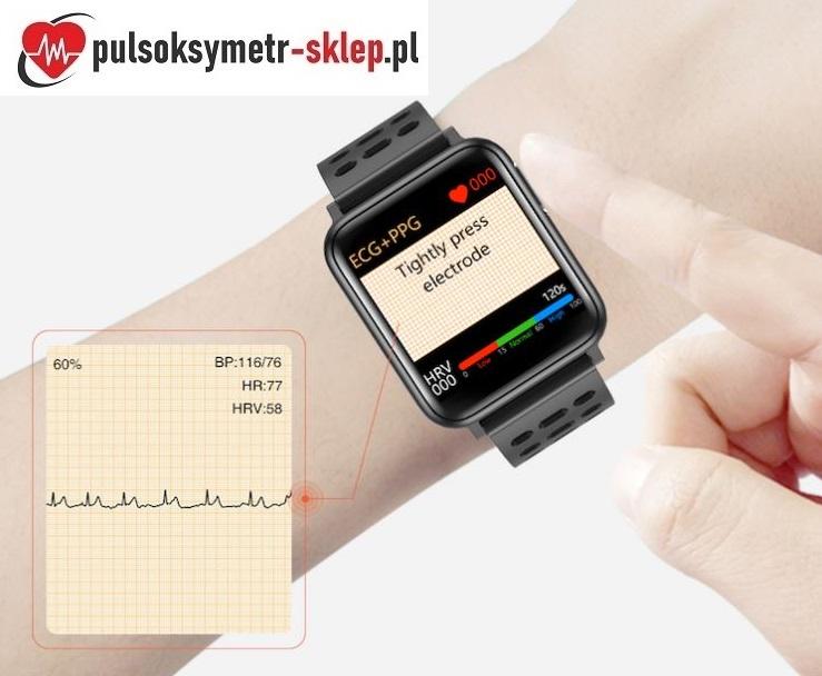 Pomiar EKG ciśnienia krwi w zegarku