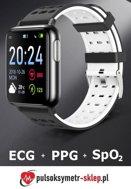 Pulsoksymetr nadgarstkowy zegarek z EKG i pomiarem ciśnienia